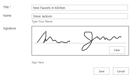 Signature Field for SharePoint Lists