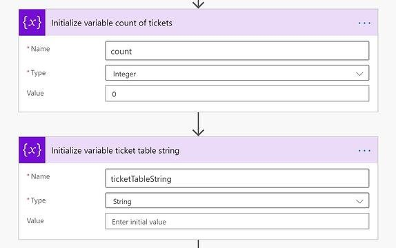 Flow Ticket Variables