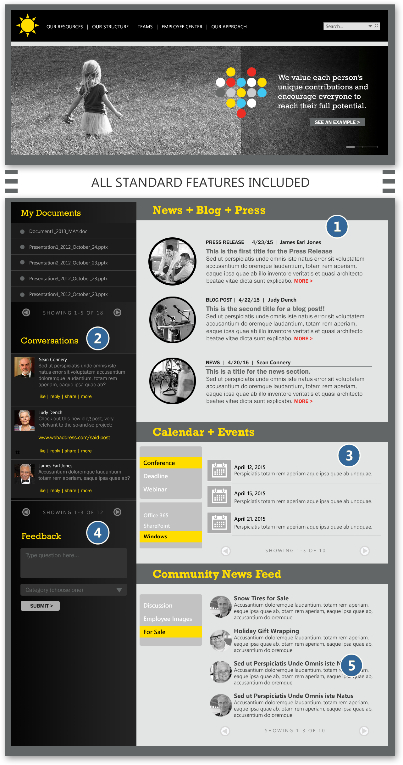 Accelerated Intranet - Home Page - Plus