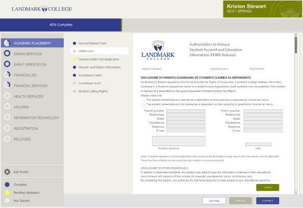 LandmarkCollege-student-portal