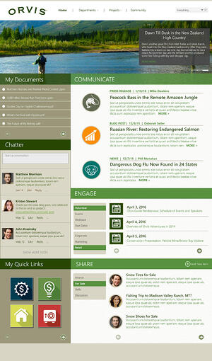 Orvis_intranet_home