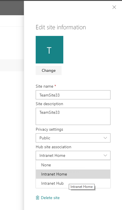 Hubify your root site collection in Office 365