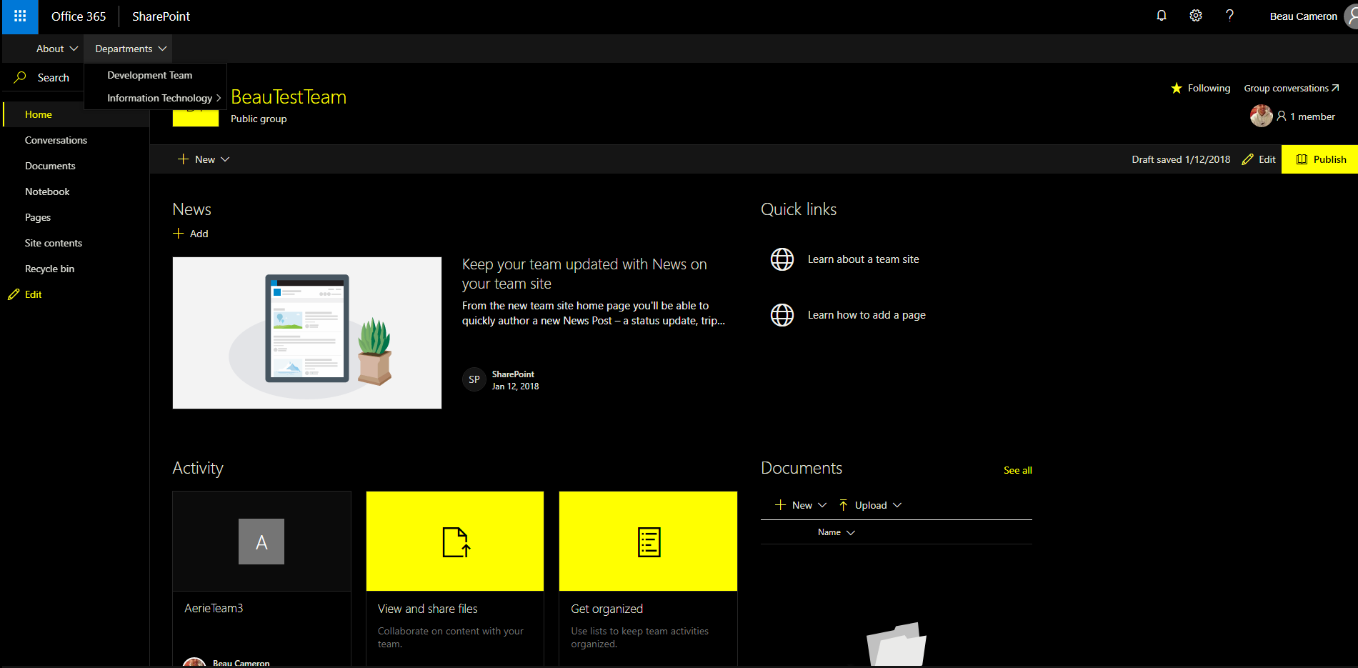 Create Modern Sharepoint Site Templates Using Office 365 Site Designs