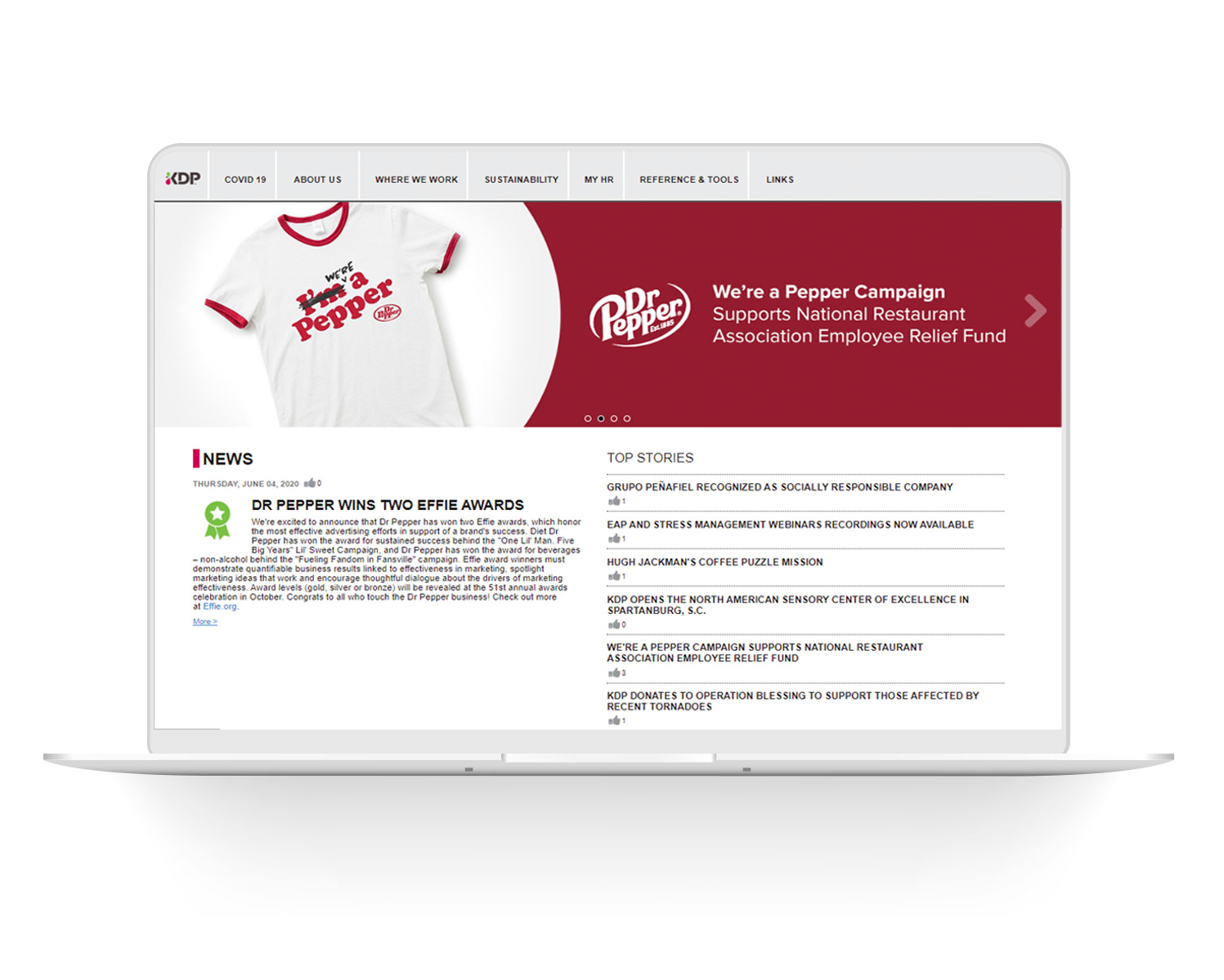 Keurig-DrPepper-Intranet